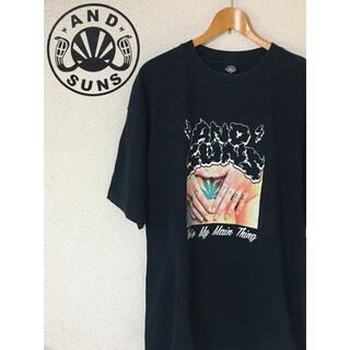 アンドサンズ(ANDSUNS)のアンドサンズ 黒 2XL ブラック &SUNS ANDSUNS(Tシャツ/カットソー(半袖/袖なし))