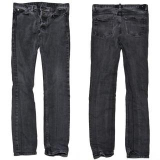 4 マインデニム ストレッチ スキニー 加工 デニム パンツ 黒 ブラック(デニム/ジーンズ)