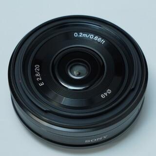 ソニー(SONY)のSONY 20mm f2.8 SEL20F28 パンケーキレンズ ソニー(レンズ(単焦点))