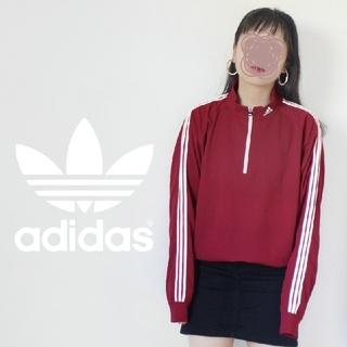 アディダス(adidas)の【激かわ♡】赤✖白 adidas 3ライン ハーフジップ ハイネック ジャージ(Tシャツ(長袖/七分))