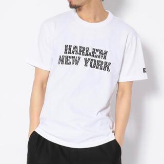 ショット(schott)の新品★Schott HARLEM NEWYORK Tシャツ ホワイト/M(Tシャツ/カットソー(半袖/袖なし))