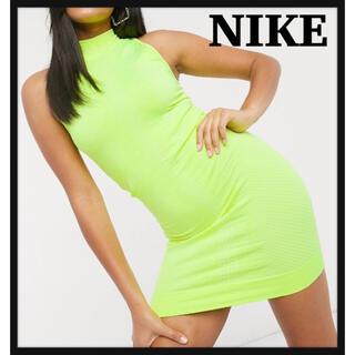 ナイキ(NIKE)のNIKE ハイネックタイトワンピ タグ付き新品(ミニワンピース)