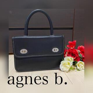 agnes b. - アニエスベー ハンドバッグ バッグ ブラッグ 黒 アニエス・ベー