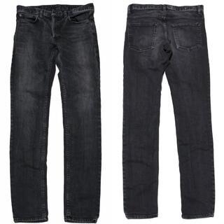 8 マインデニム ストレッチ スキニー 加工 デニム パンツ 黒 ブラック(デニム/ジーンズ)