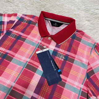 Munsingwear - 新品定価19800円/マンシングウェア/メンズ/半袖ポロシャツ/ゴルフシャツ