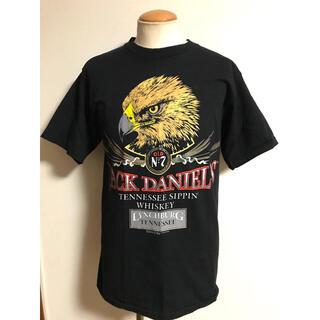 ダブルアールエル(RRL)の美品 90s ビンテージ ジャックダニエル イーグル Tシャツ 黒 L xpv (Tシャツ/カットソー(半袖/袖なし))