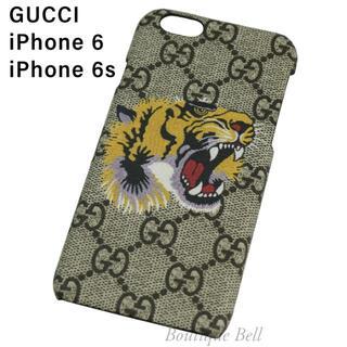 グッチ(Gucci)の【GUCCI】グッチ GG柄 タイガー iPhone6/6sケース(iPhoneケース)