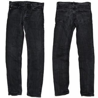 10 マインデニム ストレッチ スキニー 加工 デニム パンツ 黒 ブラック(デニム/ジーンズ)