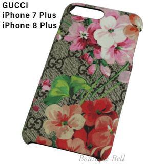 グッチ(Gucci)の【GUCCI】グッチ ブルームス iPhone7Plus/8Plusケース(iPhoneケース)