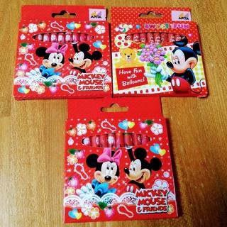ディズニー(Disney)のクレヨン12色 3ケース ミッキーマウス ミニーちゃん(クレヨン/パステル)