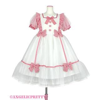 アンジェリックプリティー(Angelic Pretty)のAngelic Prettyふんわりパフェワンピース 白(ひざ丈ワンピース)