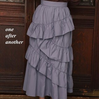 one after another NICE CLAUP - 新品 one after another ティアードフリルスカート