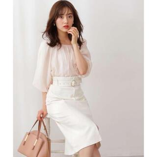 PROPORTION BODY DRESSING - プロポーションボディドレッシング デニムタイトスカート 白 今期新品 ホワイト