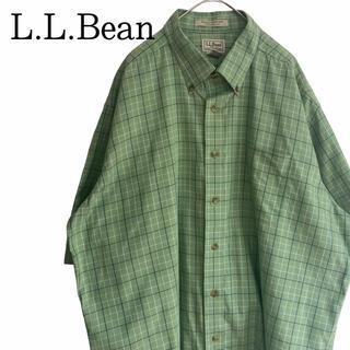 L.L.Bean - 【美品】L.L.Beanエルエルビーン チェックシャツ レトロ90s 古着 半袖