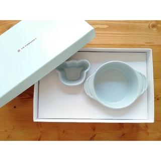 ルクルーゼ(LE CREUSET)の【新品・未使用】LE CREUSET 子供用プレート食器3点set 離乳食(離乳食器セット)