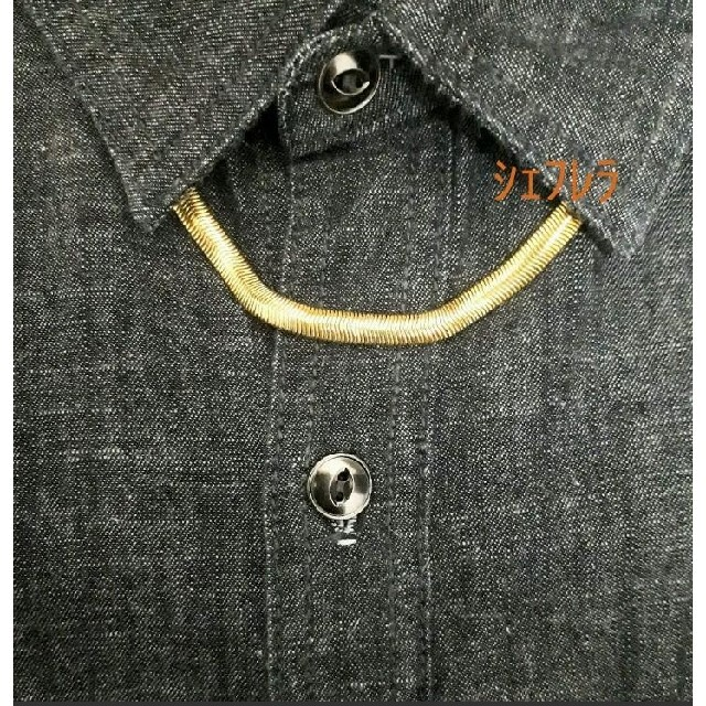 【18K刻印入り】 スネーク チェーン ゴールドネックレス ヘリンボーン メンズのアクセサリー(ネックレス)の商品写真