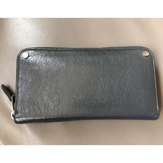 バレンシアガ(Balenciaga)の【保存袋付き】BALENCIAGA ラウンドファスナー長財布 ダークグレイ(長財布)