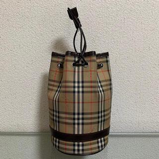 BURBERRY - 希少 バーバリー 巾着 ポーチ ミニ ハンドバッグ ノバチェック シャドーホース