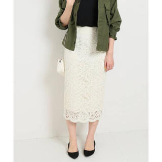 IENA - IENA イエナ レースタイトスカート 36サイズ ナチュラル