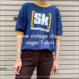 古着 ゲームプリント リンガーTシャツ メキシコ製 ユニセックス ビンテージ