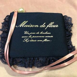 Maison de FLEUR - 【送料無料】メゾンドフルール ティッシュケース ポーチ ネイビー リボン