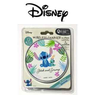 ディズニー(Disney)のディズニー スティッチ ワイヤレス充電器(バッテリー/充電器)