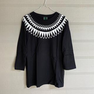 ベースコントロール(BASE CONTROL)の新品 本物 正規品 ベースコントロール メンズ 七分袖 Tシャツ 黒 白(Tシャツ/カットソー(七分/長袖))