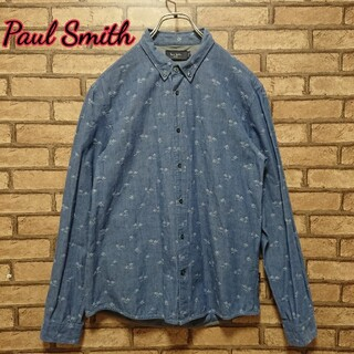 ポールスミス(Paul Smith)のPaul Smith ポールスミス パームツリー ヤシの木 刺繍 総柄 シャツ(シャツ)