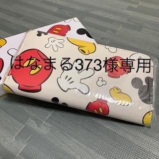 ディズニー(Disney)の長財布 ミッキーアイコンラウンドファスナーウォレット(長財布)