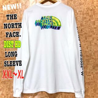 ザノースフェイス(THE NORTH FACE)の最新モデル ♪ XXL ~ 新品 ノースフェイス DIST HD ロンT 白(Tシャツ/カットソー(七分/長袖))