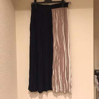 インディヴィ(INDIVI)のINDIVI 大きいサイズ プリーツスカート  19号 ウエストゴム(ロングスカート)