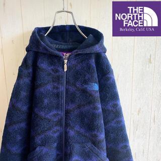 THE NORTH FACE - 【美品】ノースフェイス パープルレーベル フリースパーカー ネイビー Mサイズ