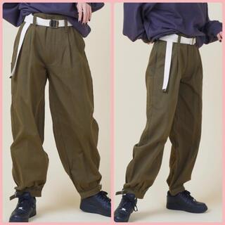 SPINNS - スピンズ 裾絞りパンツ ニッカポッカ カーキ