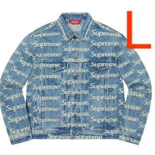 シュプリーム(Supreme)のFrayed Logos Denim Trucker Jacket L(Gジャン/デニムジャケット)