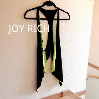 ジョイリッチ(JOYRICH)のJOYRICH ベスト ジレ ネオンカラー 蛍光 黄色 黒 ブラック Ssize(ベスト/ジレ)