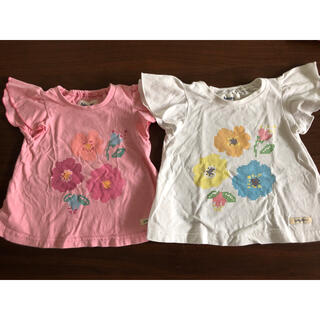 キムラタン 花柄Tシャツ 双子