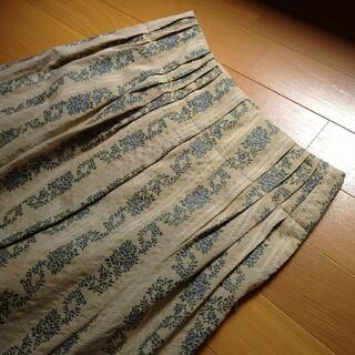 オゾック(OZOC)のozoc フレアスカート 刺繍 裏地付(ロングスカート)