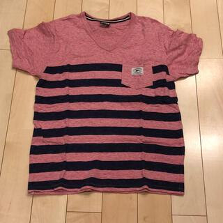 ショット(schott)のschott ショット vネック カットソー ボーダー(Tシャツ/カットソー(半袖/袖なし))