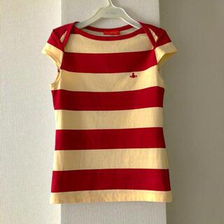 ヴィヴィアンウエストウッド(Vivienne Westwood)のVivienne Westwood プリントボーダーTシャツ カットソー(カットソー(半袖/袖なし))