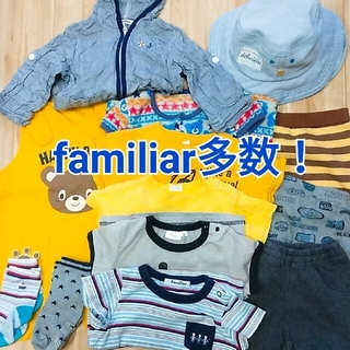ファミリア(familiar)のfamiliar 半袖 Tシャツ トップス 半ズボン 靴下 帽子 まとめ売り(Tシャツ)