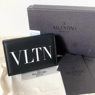 VALENTINO - 未使用 ヴァレンティノ 三つ折り 財布 ミニ ウォレット VLTN レザー 黒