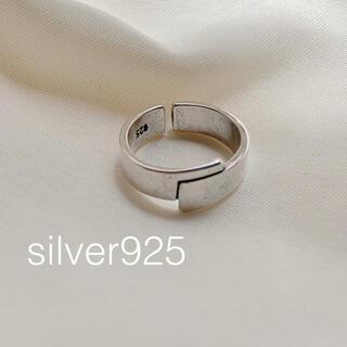 シップス(SHIPS)のsilver925 スクエアポールリング(リング(指輪))