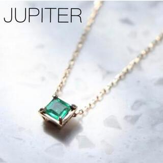 agete - ■現行品■【JUPITER】K10 facetペンダント〈エメラルド 〉