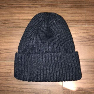 アナップミンピ(anap mimpi)のanap mimpi ニット帽 ニットキャップ 黒(ニット帽/ビーニー)