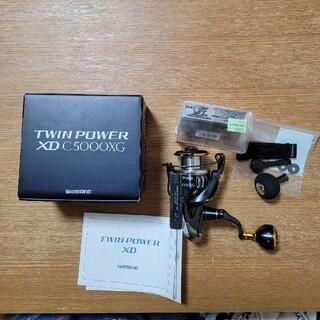 シマノ 17 ツインパワーXD  C5000XG カスタムノブ付き