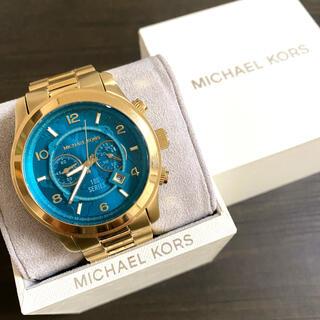 Michael Kors - 【美品!!】限定ハンガーモデル マイケルコース クロノグラフ腕時計 世界地図🎀
