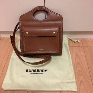 BURBERRY - Burberry ミニ トップステッチレザー ポケットバッグ