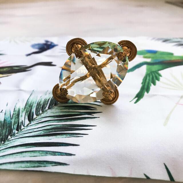 美品!viviennewestwood ヴィンテージ ガラスカットリング レディースのアクセサリー(リング(指輪))の商品写真