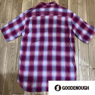 GOODENOUGH - good enough  グッドイナフ    背面 ロゴ チェック シャツ