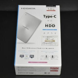 アイオーデータ(IODATA)のIOデータ 外付けHDD シルバー ポータブル型 1TB HDPX‐UTC1(PC周辺機器)